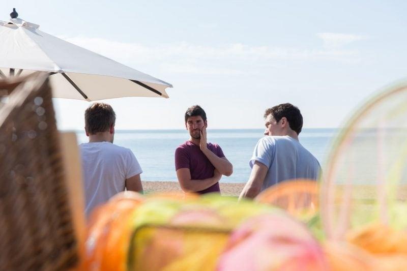 groomsmen at beach
