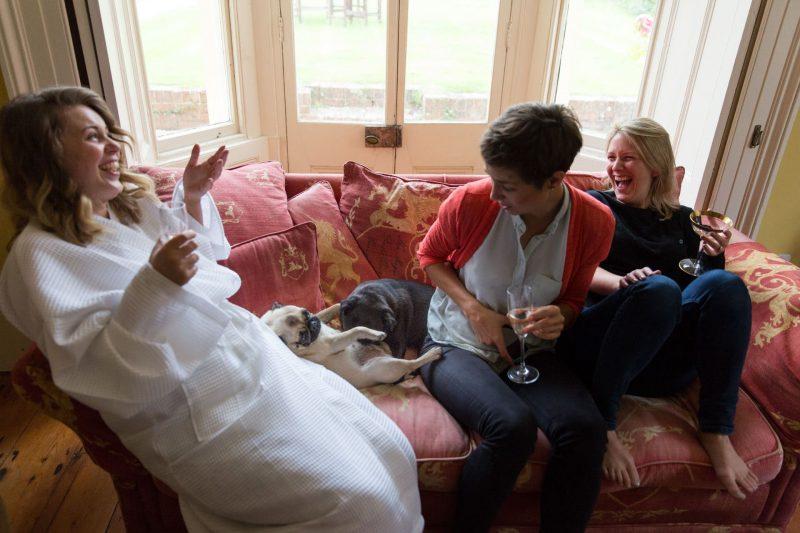 bridesmaids and pugs