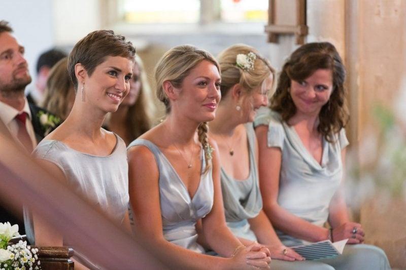church wedding bridesmaids