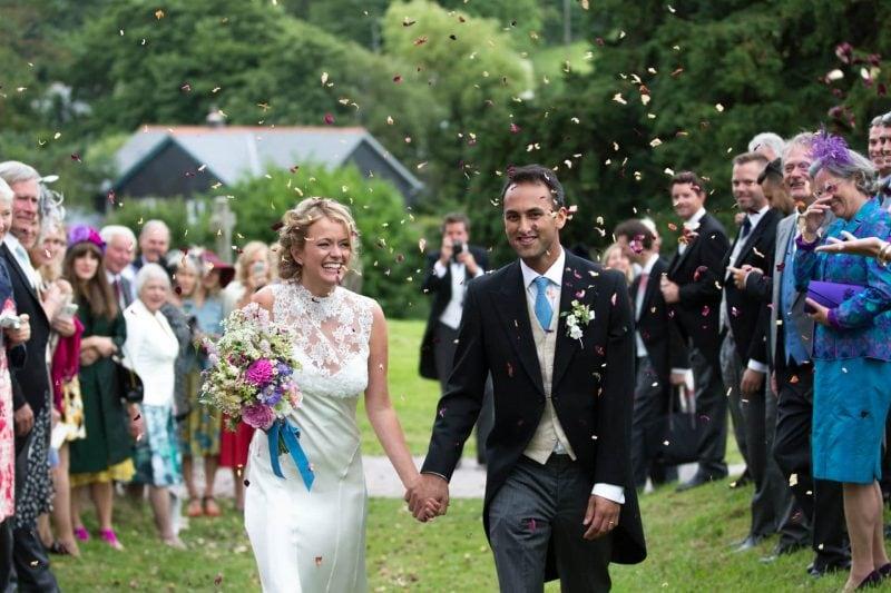 devon wedding confetti