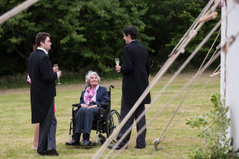 tipi wedding reception devon