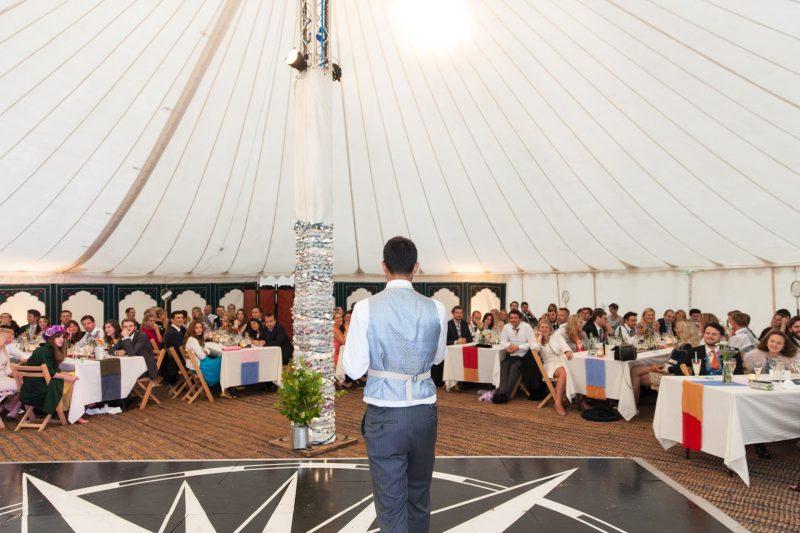 groom speech tipi wedding devon