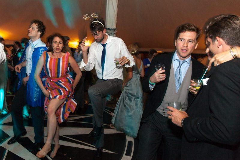 tipi wedding party