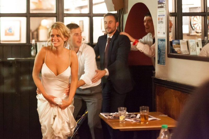 wedding after-party conga