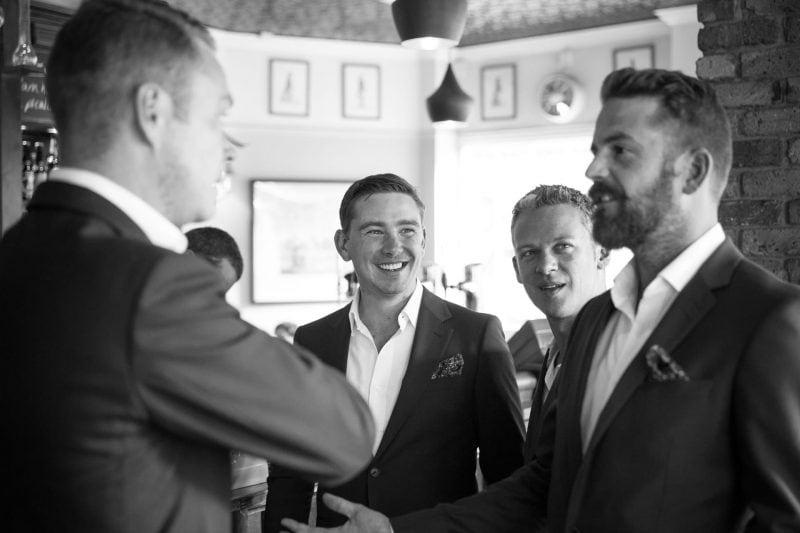 groom groomsmen pub pre-wedding