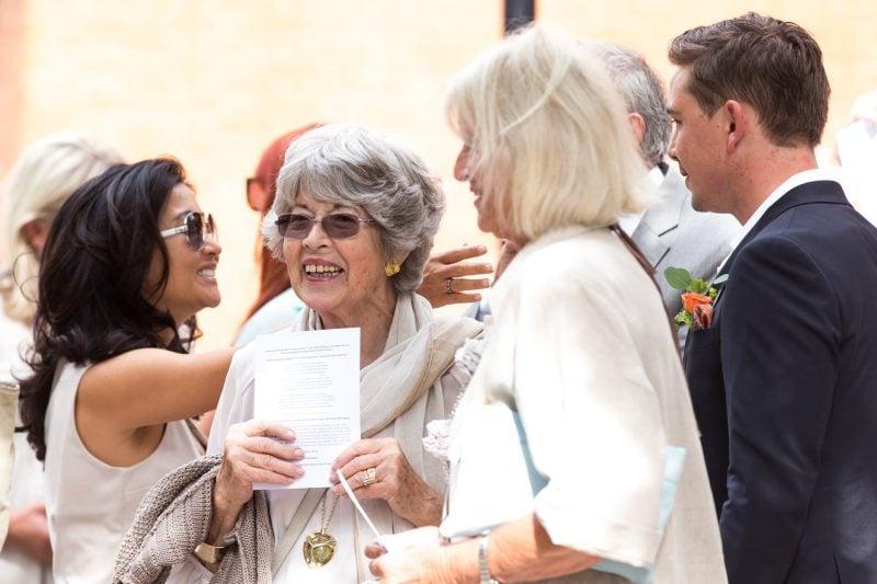 london wedding guests