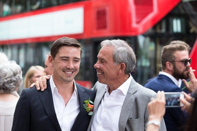 london wedding groom and father