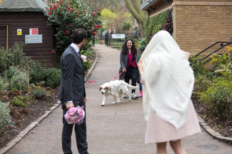 chelsea wedding in rain
