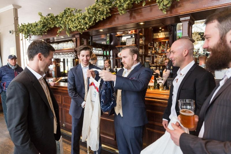 groom groomsmen london pub