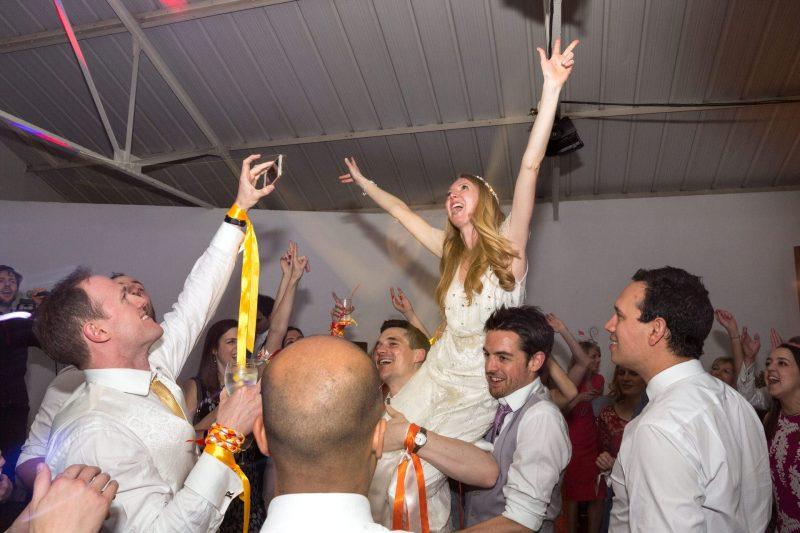 london wedding bride on shoulders