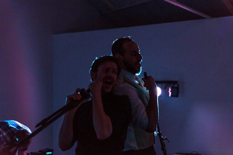 london wedding party singing