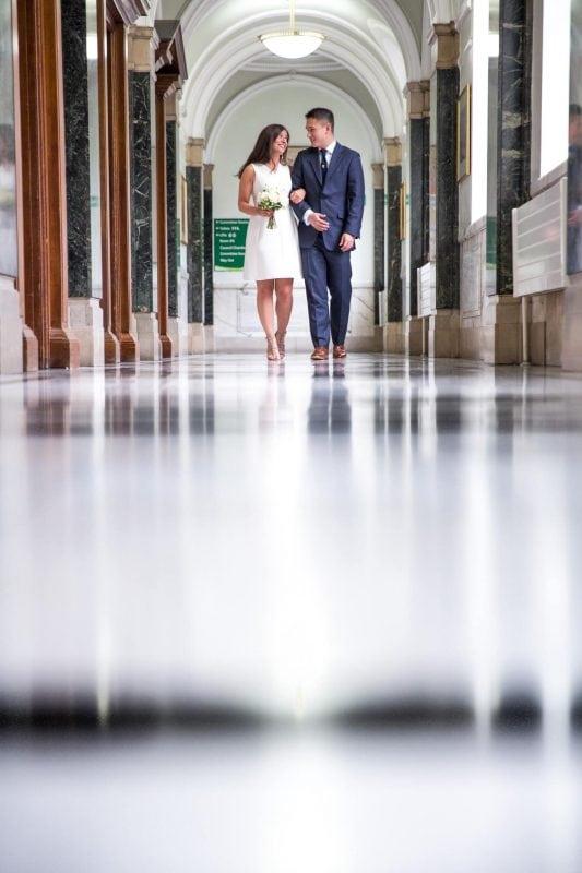 newlyweds islington town hall photographer