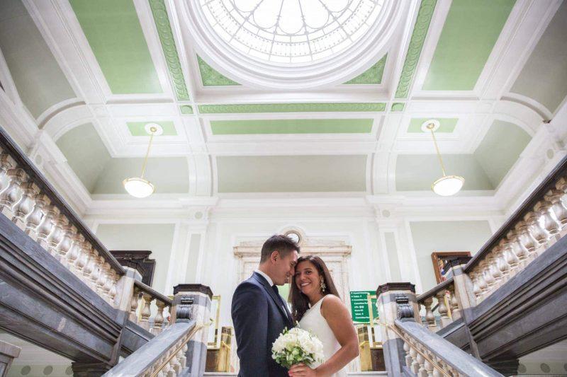 islington town hall wedding newlyweds