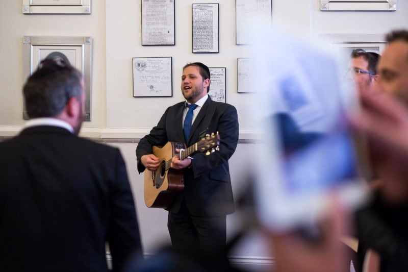 tisch guitar jewish wedding