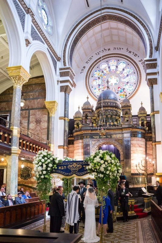 synagogue wedding photographer london