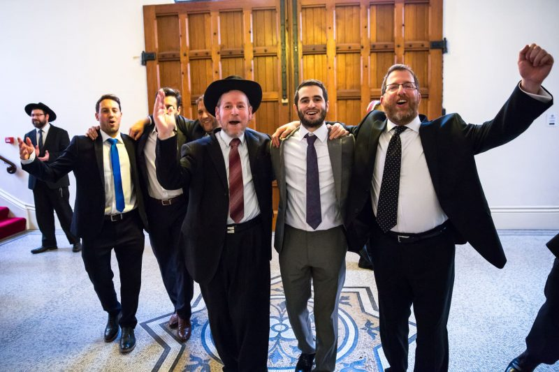 dancing groomsmen jewish wedding