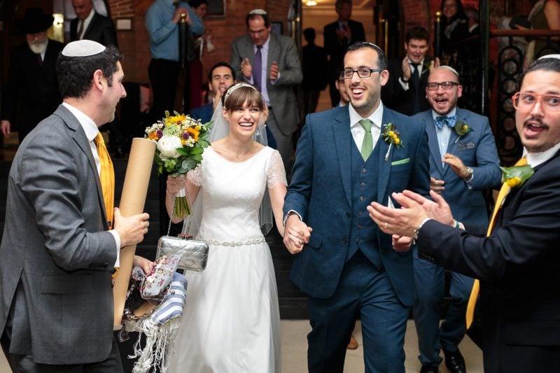 just married london jewish wedding