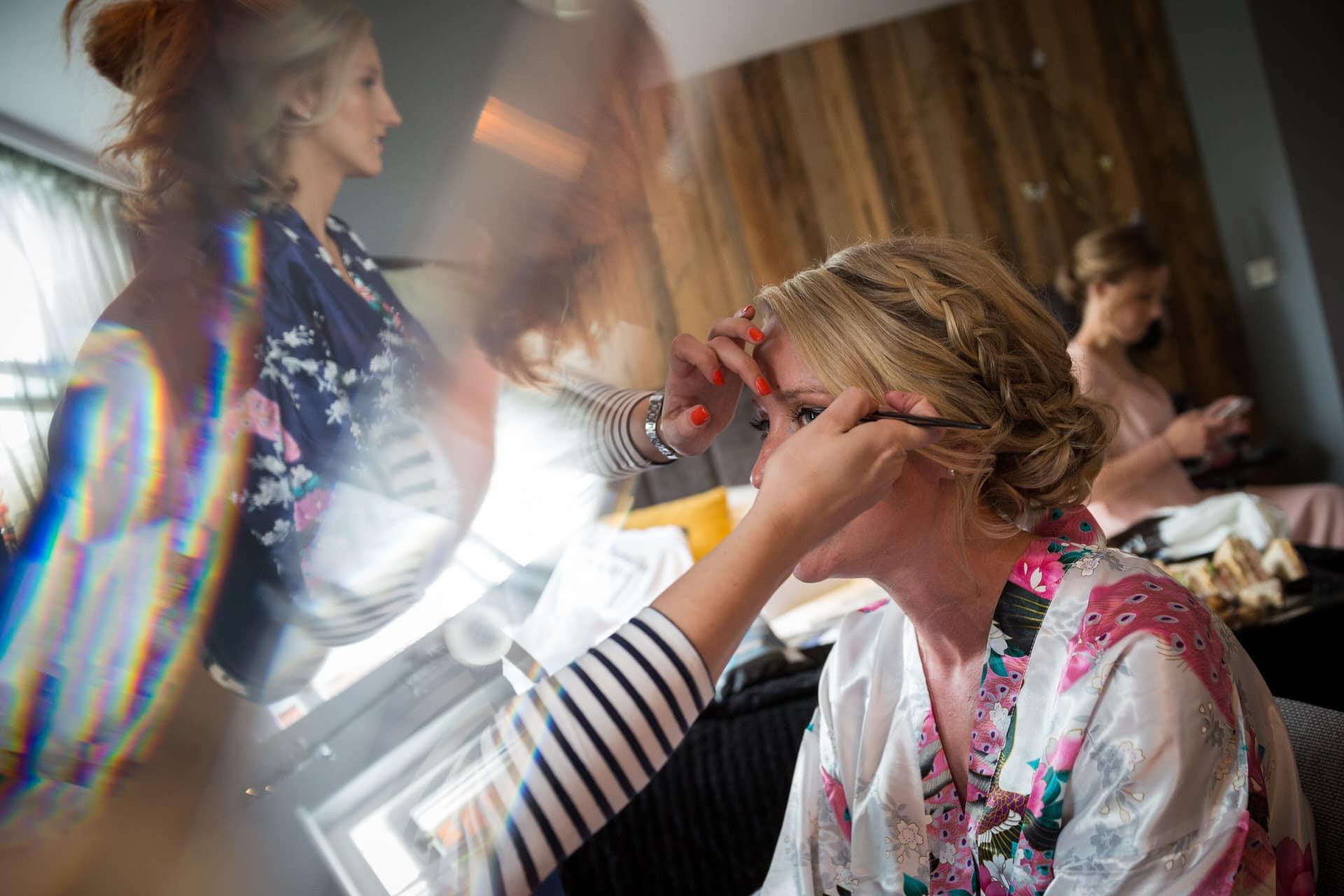 bride bridesmaids makeup photographer