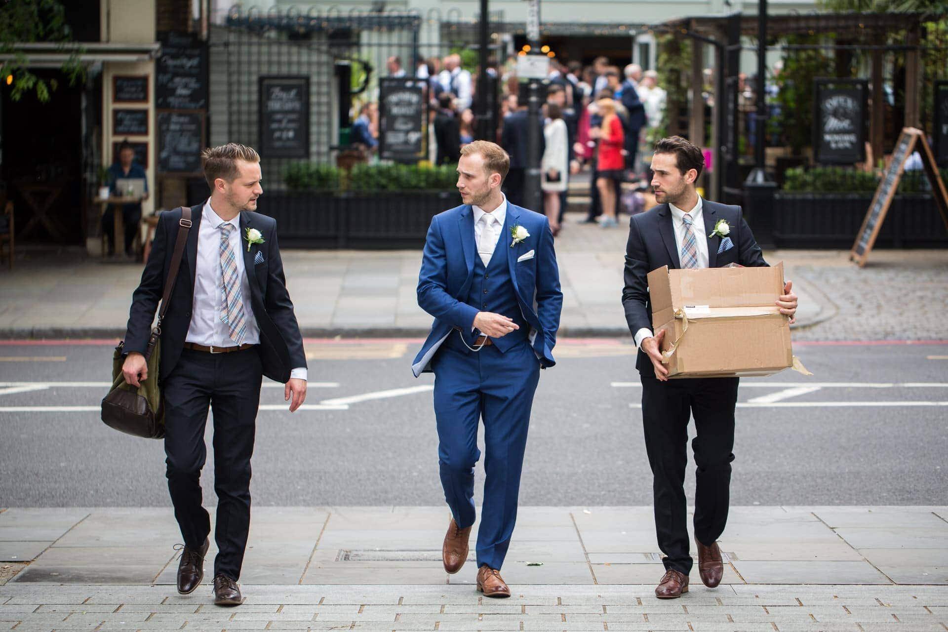 groom groomsmen london wedding