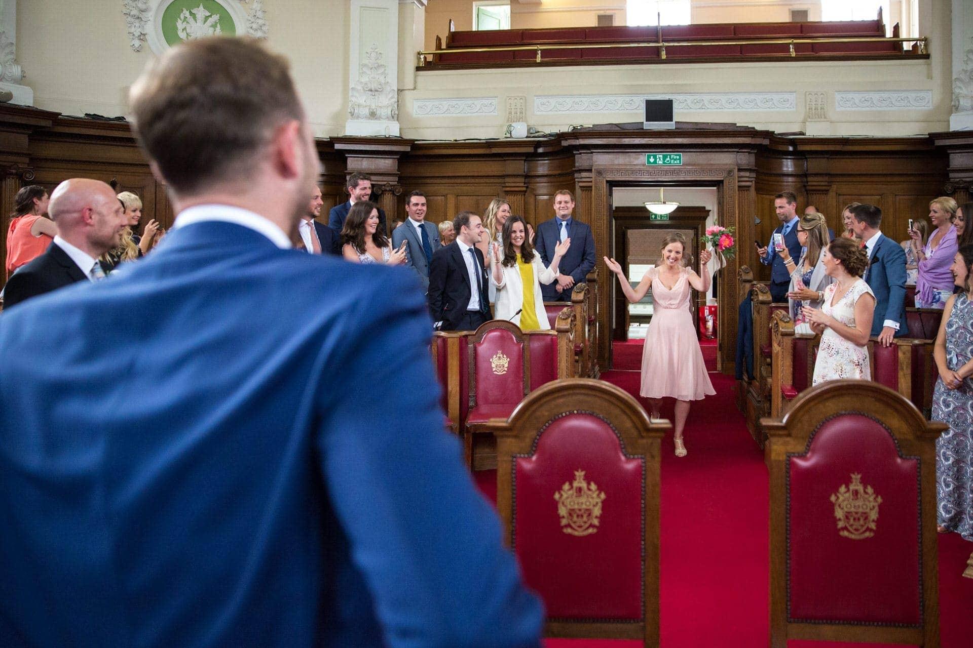 dancing bridesmaids entrance wedding