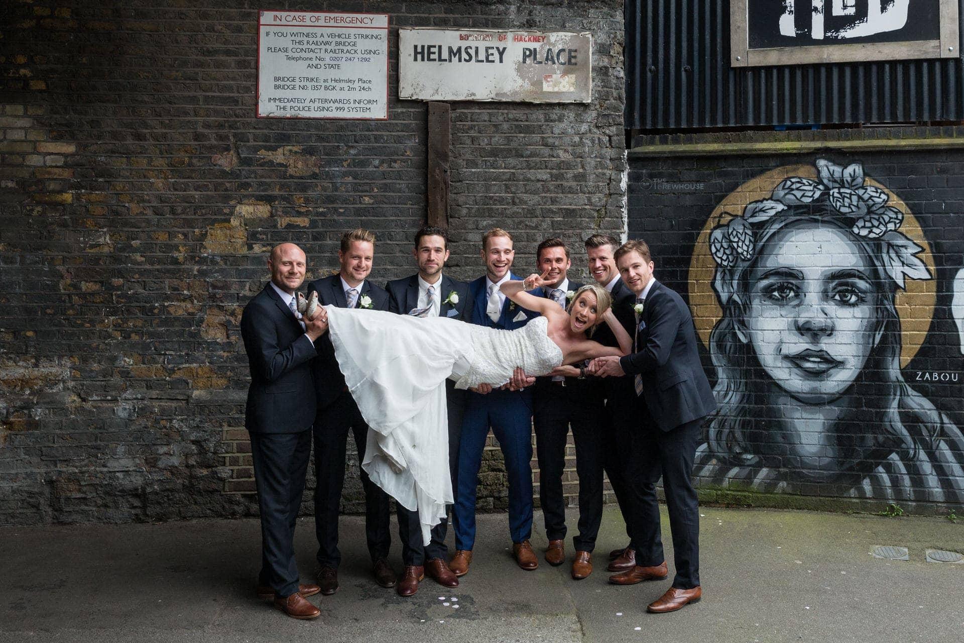 groomsmen and bride photographer