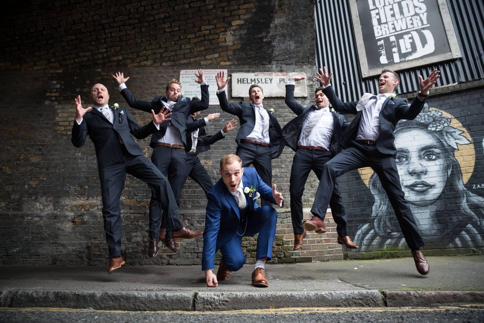 groom groomsmen superhero