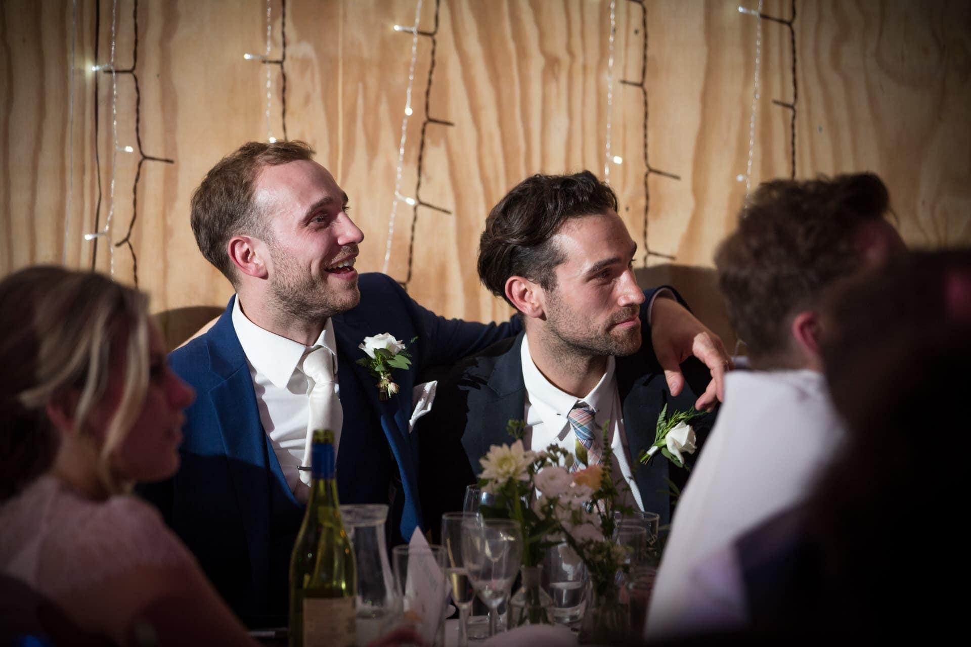 wedding groom speech reactions