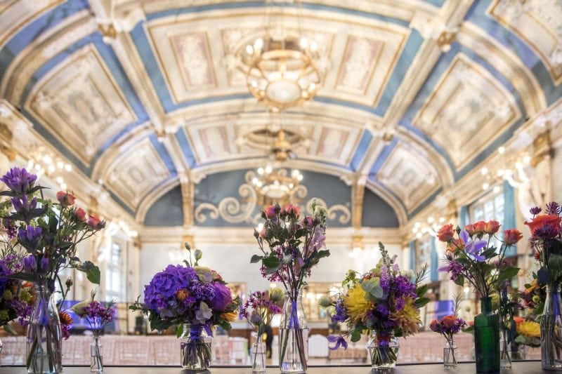 old finsbury town hall wedding flowers