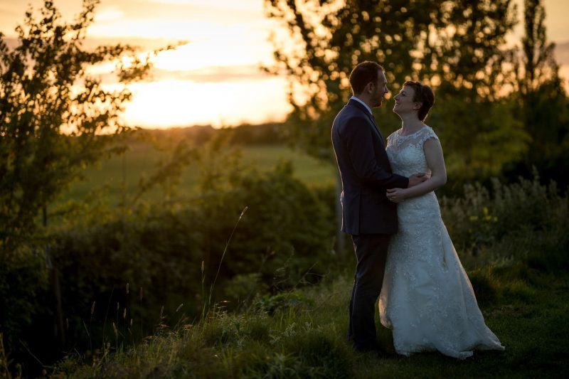 south farm sunset wedding photos