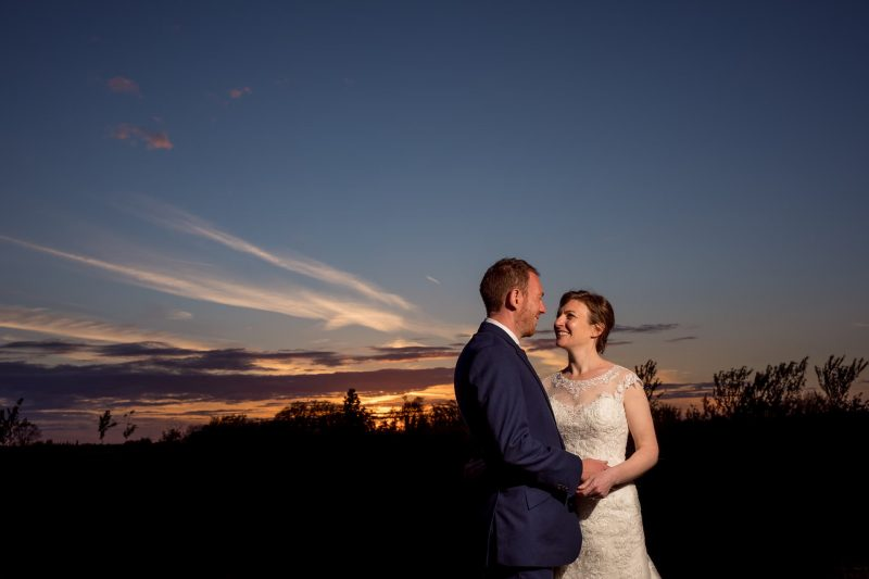 newlyweds sunset photographer