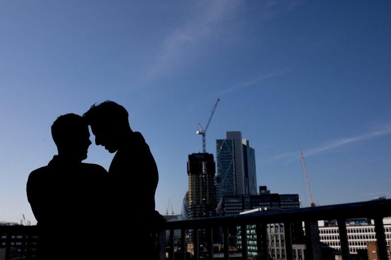 same-sex wedding silhouette london