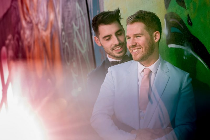 same-sex wedding couple london