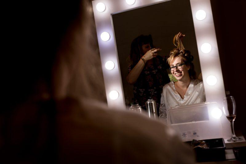 hair mirror parklands quendon hall photographer
