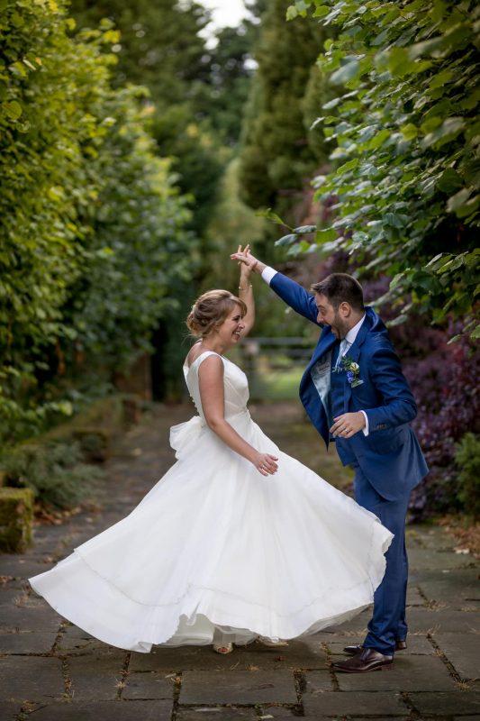 spinning bride photographer parklands quendon hall
