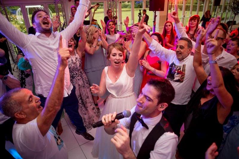 epic wedding party parklands quendon hall