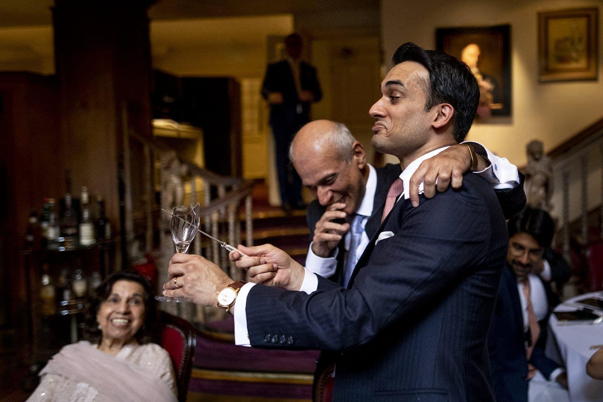 funny moment london wedding