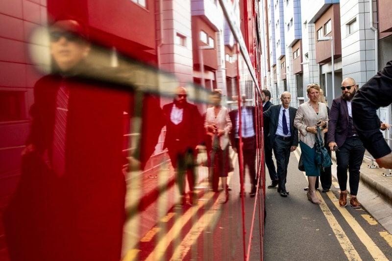 london wedding bus arrival