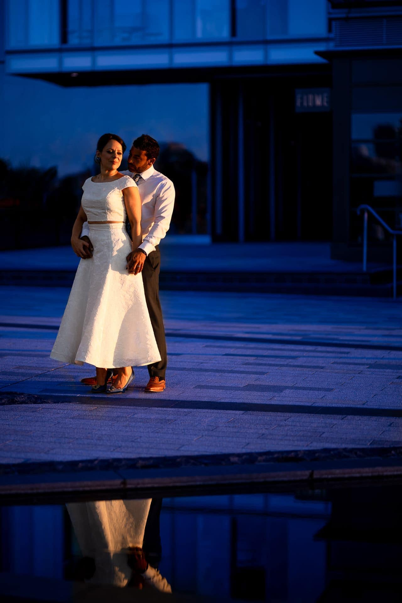 blue hour wedding photogs