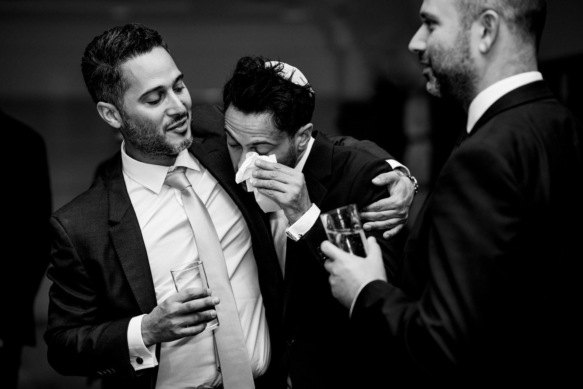emotional groom at tisch