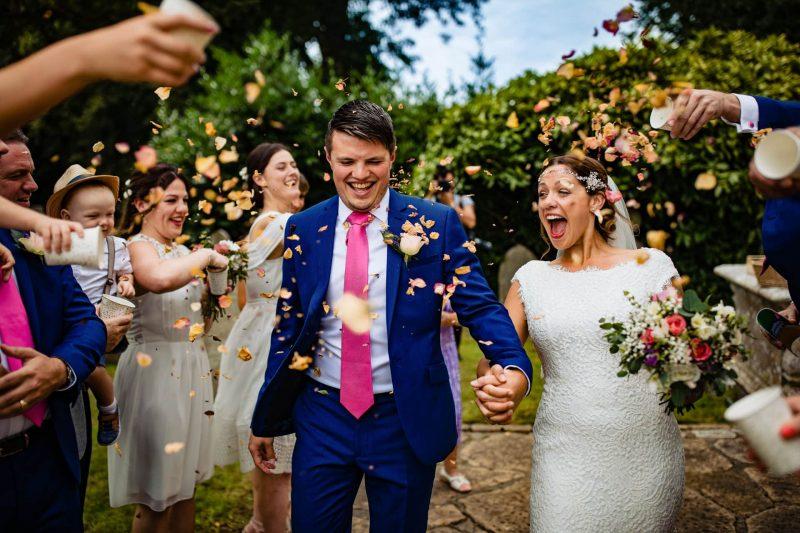London Wedding Photographer Confetti Run
