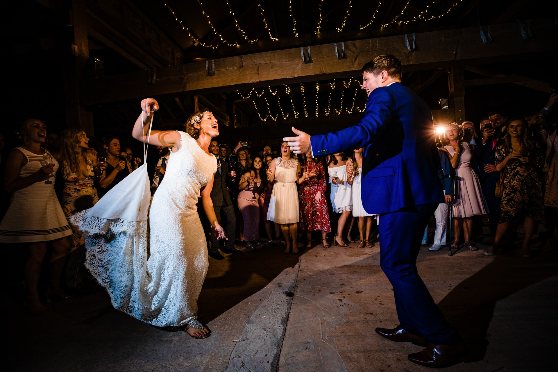 first dance barn wedding photographer