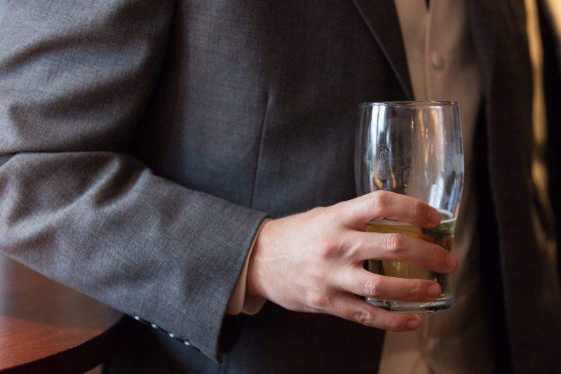 wedding groom in pub