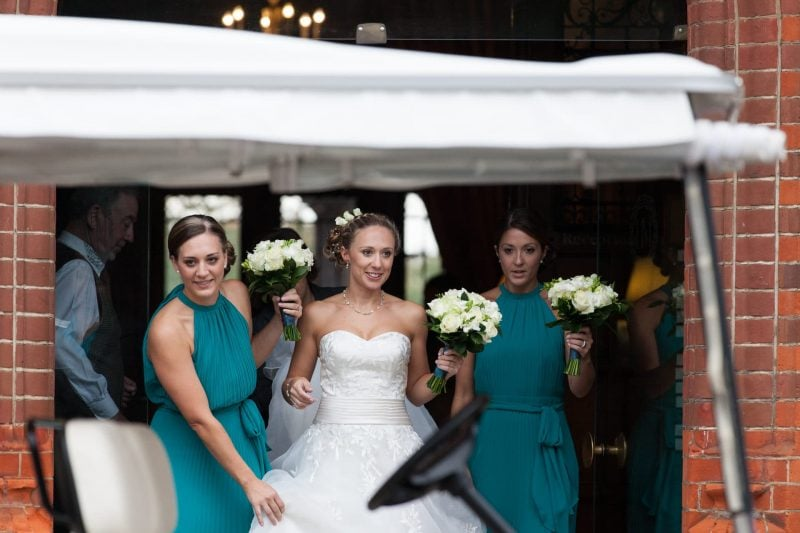 bride bridesmaids flowers wedding