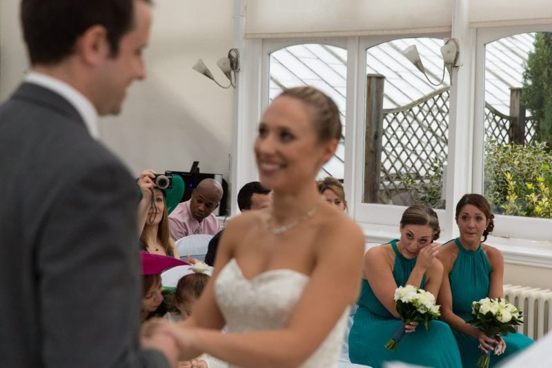 crying bridesmaid photographer