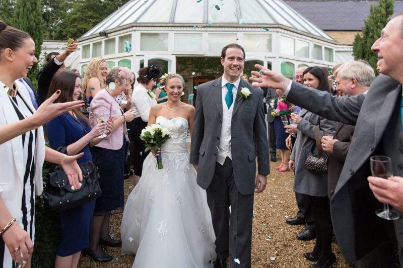 hanbury manor wedding confetti