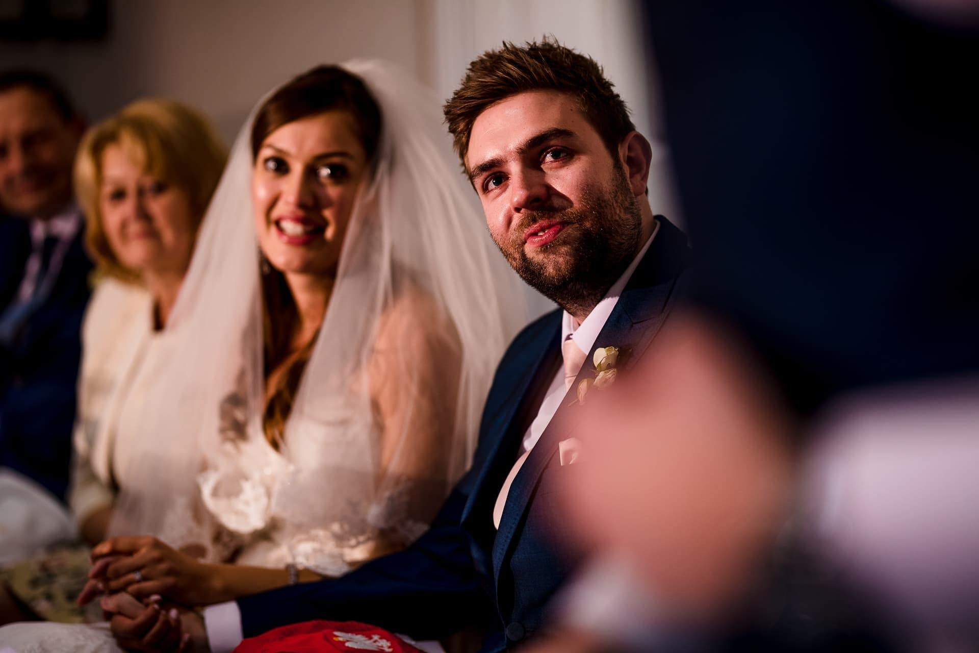 groom and bride speech reactions