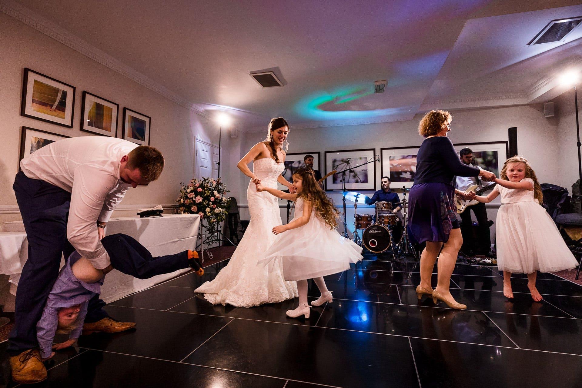 wedding dance floor with kids