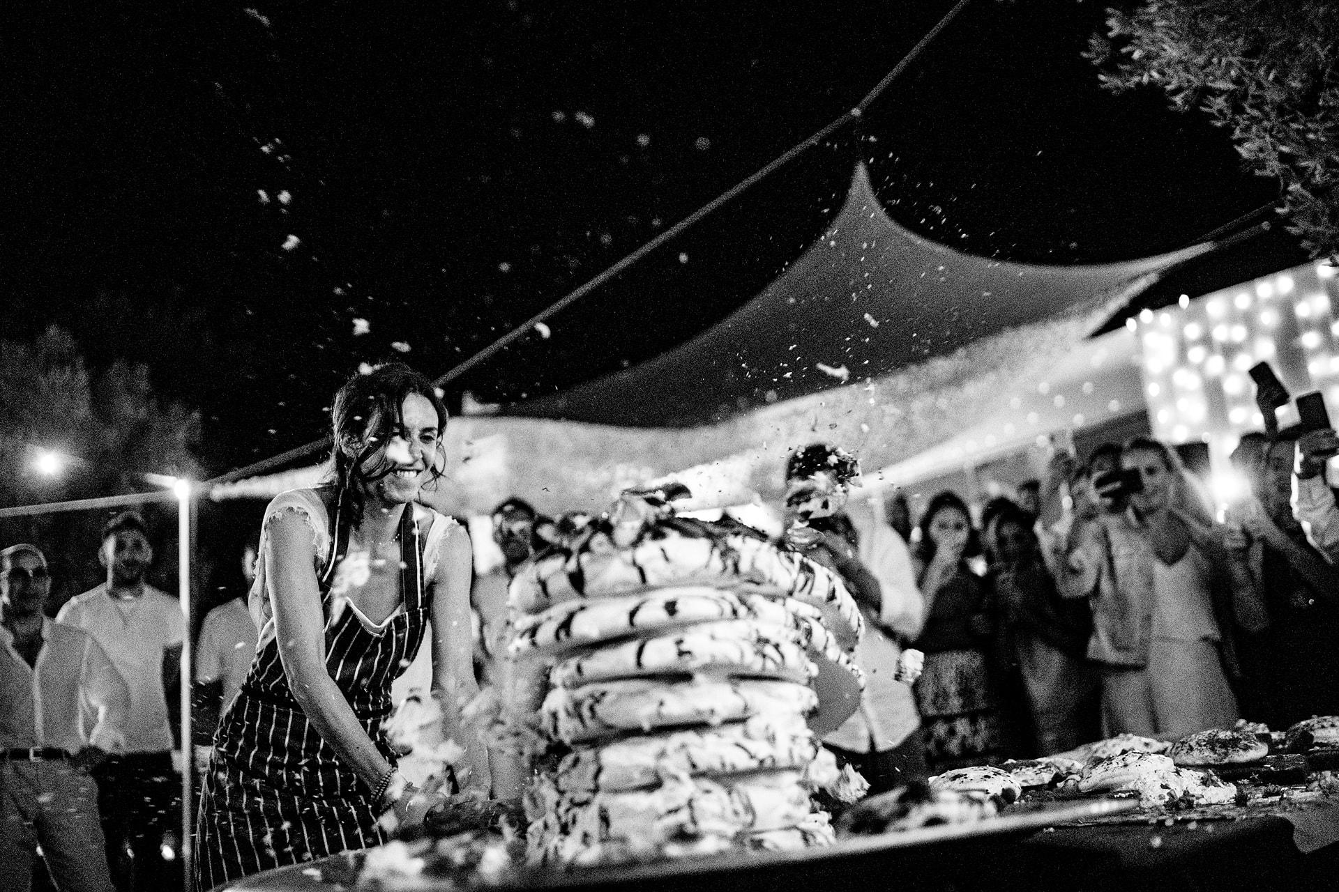 bride cake smash